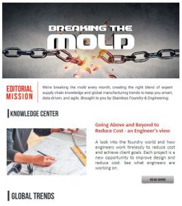 Stainless Foundry and Engineering company newsletter - december 2019