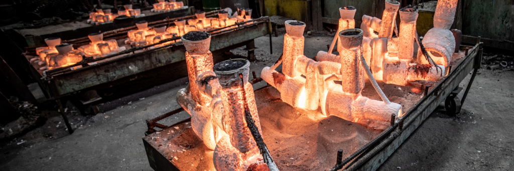 Investment Casting Pour