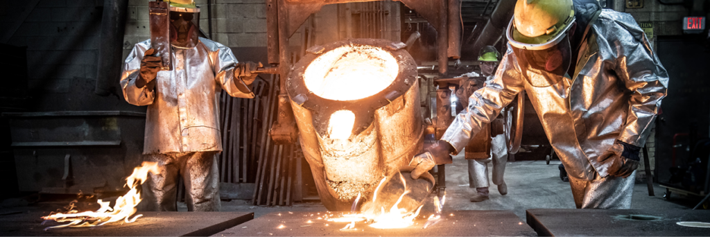 stainless casting pour